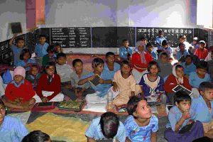poor child study in classroom